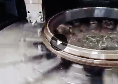 Slewing bearing machining